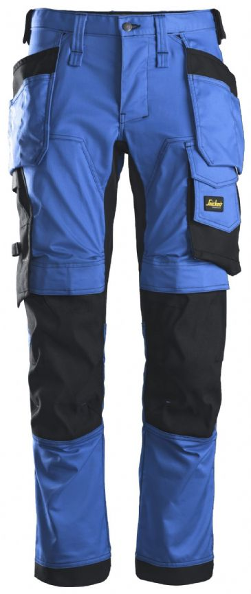Snickers 6241 AllroundWork Stretch Work Trousers with Holster Pockets (True Blue/Black)